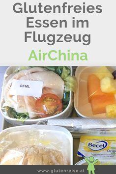 Mit Zöliakie auf Reisen. Meine Erfahrungen mit dem glutenfreien Essen bei Air China im Flugzeug. Air China, Snack Recipes, Snacks, Chips, Food, Travel, Food Food, Gluten Free Dinner, Aircraft