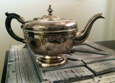 Elegant EP Copper Viking Plate Grape Motif Black by AnEVintages Antique Items, Vintage Items, Silver Teapot, Copper Pots, Vikings, Tea Pots, My Etsy Shop, Plates, Elegant