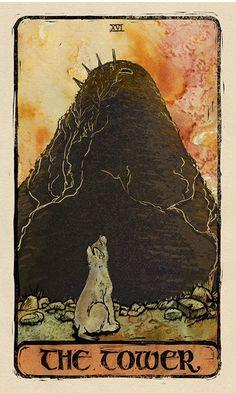 game of thrones tarot cards - Bing images The Tower Tarot, Jon Snow And Ygritte, Tarot Astrology, Game Of Thrones Art, Black Parade, Valar Morghulis, Tarot Cards, Tarot Decks, Archetypes