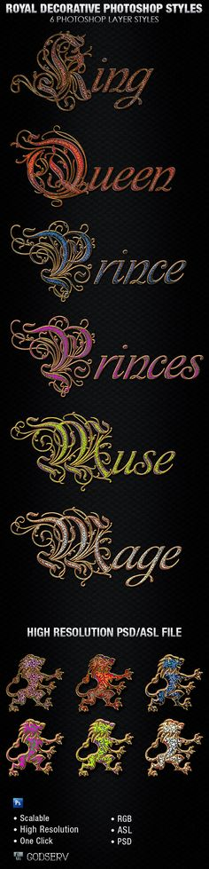 Royal Decorative Photoshop Layer Styles - Text Effects Styles