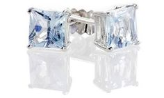 image for 2.00 CTTW Princess-Cut Aquamarine Studs in Sterling Silver