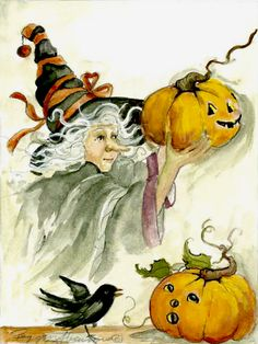 Witch and pumpkins | Bentley Licensing Group