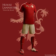 Game of Thrones World Cup Nike Concepts House Lannister Game of Thrones X Nike by Nerea Palacios
