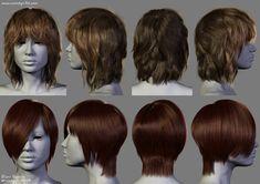 2014 - 2 New Hairstyles, Dani Garcia on ArtStation at https://www.artstation.com/artwork/2014-2-new-hairstyles