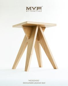 HEDGEHOG - dismountable plywood stool on Behance