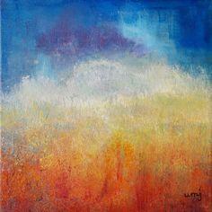 Kreativ varje dag: 150417 nr 158Värmebölja Akryl på duk, 20x20 cm De ...