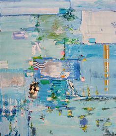 """Painting by Michael Adamson....""""Swimming by June"""""""