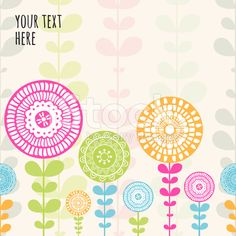 Vector seamless hand-drawn pattern with flowers and leaves. royalty-free stock vector art