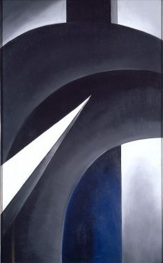 BA compositie/ abstract ( 'Black White and Blue', Georgia O'Keeffe,1930)