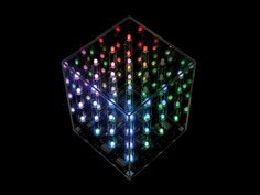 The Hypnotic Light Cube consists of an array of 4 x 4 x 4 RGB LEDs (64 in total) arranged in a transparent cube. Each of the RGB LEDs can light up in multi colors. When combined together and controlled by a microprocessor, the Hypnotic Light Cube can put up a truly hypnotic and dazzling animated light show.