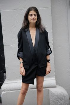 Man-Repeller-turned-Getter- Leandra Medine and how to dress a blazer dress as well as Rihanna Fashion Editor, Fashion Tips, Fashion Trends, Man Repeller, Looks Style, Her Style, Dress To Impress, Street Style, Style Inspiration