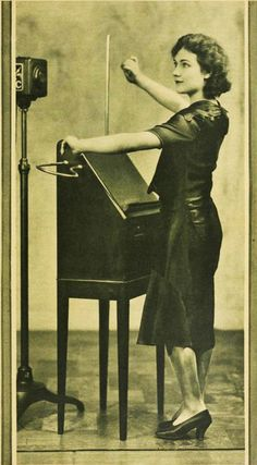 Theremin Artist Alexandra Stepanoff 1930 This really is the most amazing instrument ever!!