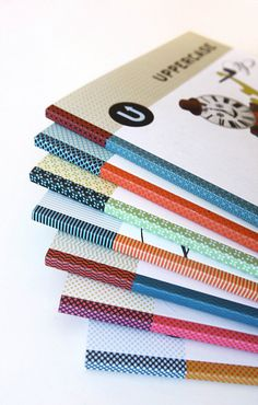 Multicoloured spines of Uppercase Magazine