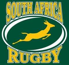 The Springbok - our official South African rugby emblem worn on the green gold jersey. Rugby League, Rugby Players, South African Rugby, African Holidays, International Rugby, Rugby Men, Rugby World Cup, Sports Party, World Of Sports