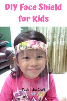 DIY Face shield for kids. Youtube Channel: Fadalisha Craft #faceshield #diyfaceshield Face Masks For Kids, Easy Face Masks, Diy Face Mask, Old Baby Clothes, Recycle Old Clothes, Winter Clothes, Sewing For Kids, Diy For Kids, Clothes Crafts