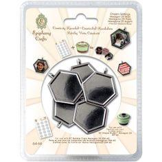 Epiphany Crafts Metal Charm Settings Hexagon, , hi-res
