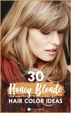 30 Honey Blonde Hair Color Ideas You Can't Help Falling In Love With #haircare