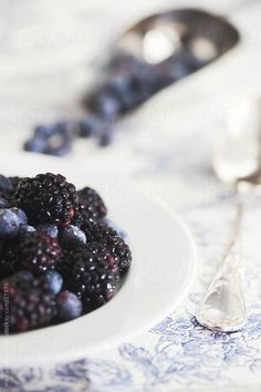 Blackberries and Blueberries by Mee Productions | Stocksy United