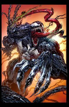 Venom by Hugh Rookwood - Marvel Universe Venom Comics, Marvel Venom, Marvel Villains, Marvel Comics Art, Marvel Heroes, Marvel Avengers, Deadpool Wallpaper, Graffiti Wallpaper, Marvel Wallpaper