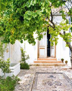 Beautiful courtyard entrance.