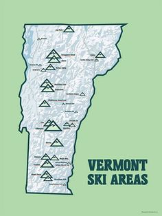 17 Best Vermont Ski Resorts Images In 2015 Vermont Ski Resorts - Eastern-us-ski-resorts-map