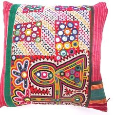 Vintage Embroidery by the Patel community makes divine cushions!