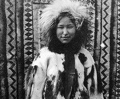 vintage photo of an Alaska Native beauty