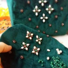 Order contact my WhatsApp number 7874133176 Diy Bead Embroidery, Zardozi Embroidery, Pearl Embroidery, Hand Embroidery Dress, Couture Embroidery, Simple Embroidery, Embroidery Fashion, Hand Embroidery Designs, Embroidery Ideas