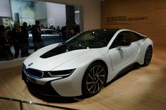 The BMW was unveiled at the Frankfurt Motor Show in 2013 and is a plug in hybrid sports car. The combines a turbo charged motor with a large electric engine and the car has some impressive performance figures. Lamborghini, Maserati, Bugatti, Ferrari, Bmw I8, My Dream Car, Dream Cars, Cadillac, Audi