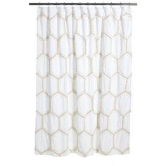 Marvelous Nordstrom At Home Tufted Lace Shower Curtain (110 CAD) ❤ Liked On Polyvore  Featuring
