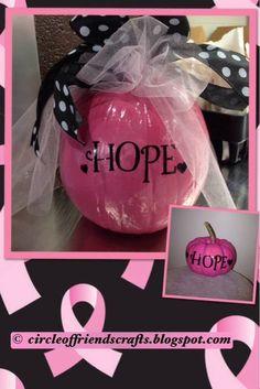 Breast Cancer Awareness Pumpkins
