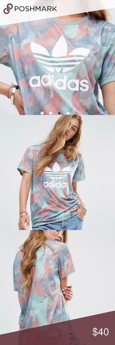 Adidas Pastel Camo trefoil shirt Adidas Pastel Camo trefoil shirt size small. This is sold out everyone and a super comfortable, longer in the back. Adidas Tops Tees - Short Sleeve
