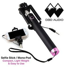 Great new travel companion. Don't miss a thing with this light weight, compact Selfie Stick. NO batteries or charging required. www.DBDAudio.net