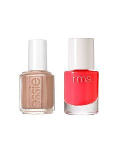 Our Favorite Fall Nail Polish Combinations: Essie nail polish in Picked Perfect + RMS Beauty polish in Beloved | allure.com