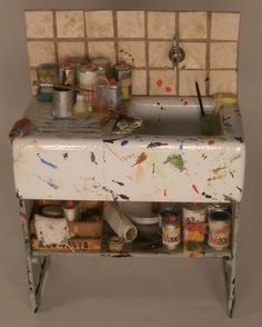 Miniature Painters Sink ~ 1-12 scale by Alexandra Cantatore