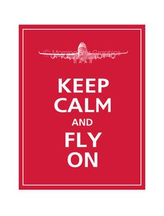 Keep Calm and FLY ON 747 Airplane Poster 11x14 by PosterPop, $14.95