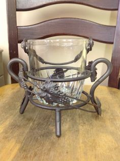 Vintage Ice Bucket by Antiquesmarketplace on Etsy, $50.00