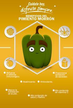 Los pimientos también son conocidos como pimiento morrón, y así es como benefician a la salud.