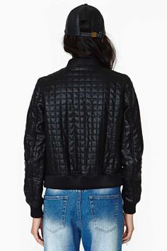 Rebellion Faux Leather Bomber