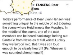 I get a feeling that it was definitely Mike Faist -I think it was probably Will Roland Theatre Nerds, Musical Theatre, Theater, Will Roland, Dear Evan Hansen Musical, Dear Even Hansen, Hansen Is, Out Of Touch, Lin Manuel
