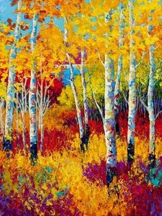 Autumn Dreams Painting by Marion Rose - Autumn Dreams Fine Art Prints and Posters for Sale Art Prints, Art Painting, Tree Art, Tree Painting, Painting, Painting Prints, Art, Canvas Art, Abstract