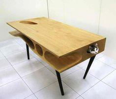 猫の秘密基地テーブル。 CATable - まとめのインテリア / デザイン雑貨とインテリアのまとめ。