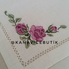 Embroidery Fashion, Crewel Embroidery, Ribbon Embroidery, Cross Stitch Embroidery, Embroidery Designs, Simple Cross Stitch, Cross Stitch Rose, Cross Stitch Designs, Cross Stitch Patterns