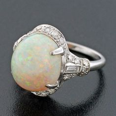 antique opal and diamond ring - Google Search