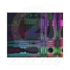 Mirror Image  Abstract Wrapped Canvas Canvas Print