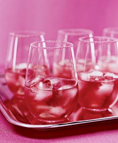 Signature #Wedding Drink... Rum Pomagranite #Lavish .- 1½ oz. Bacardi White Rum  - ¼ oz. Cointreau (orange liqueur)  - Splash of lime juice - 2½ oz. Izze sparkling  pomegranate  juice  - Colored sugar (for rim)  Dip rim of glass in water, then in colored sugar. Combine rum, liqueur and juices with ice in the glass, and stir.