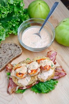 fried green tomato blt with shrimp remoulade..pure heaven