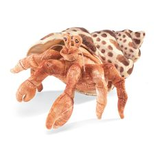 Feeling crabby? This brilliantly colored Crab puppet can cheer you up in a pinch! With his bright orange body and soft patterned shell, he'll sidle blithely into your heart. Slip your hand inside his