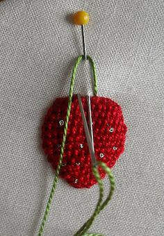 Tutorial on how to make a raised strawberry.