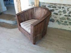 fauteuil club en palettes : Canapés & Fauteuils par boisbrut